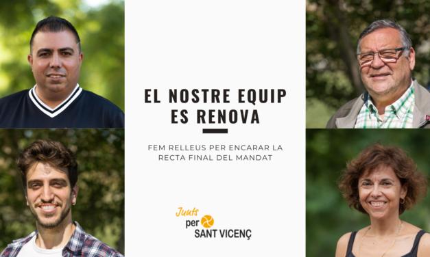 Junts x Sant Vicenç renovarà el seu equip de regidors i regidores per encarar la segona meitat del mandat